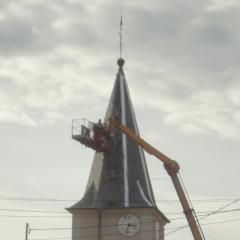 Les travaux de l'église